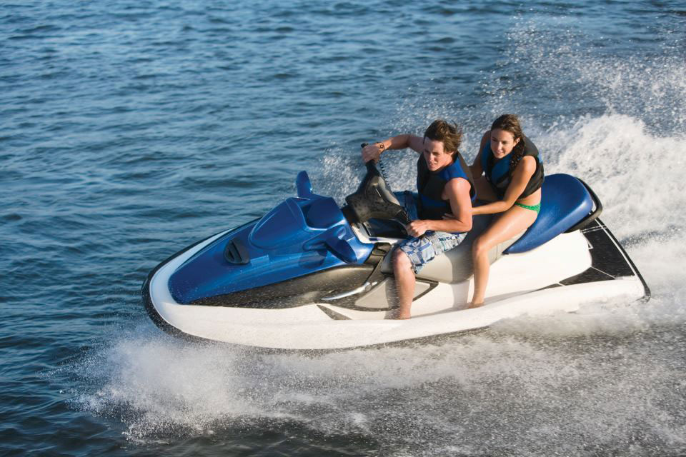 Jet Skiing On Reservoir