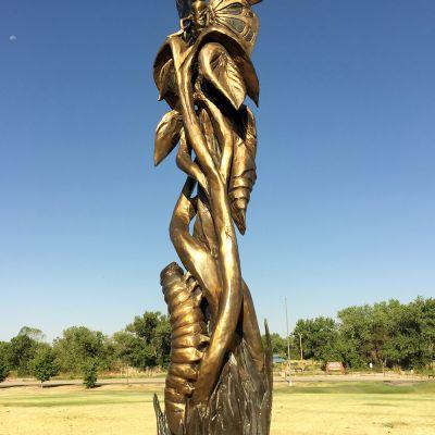 Metamorphosis (Bronze & Wood)